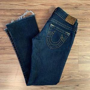 True Religion Yellow Button Bootcut Jeans